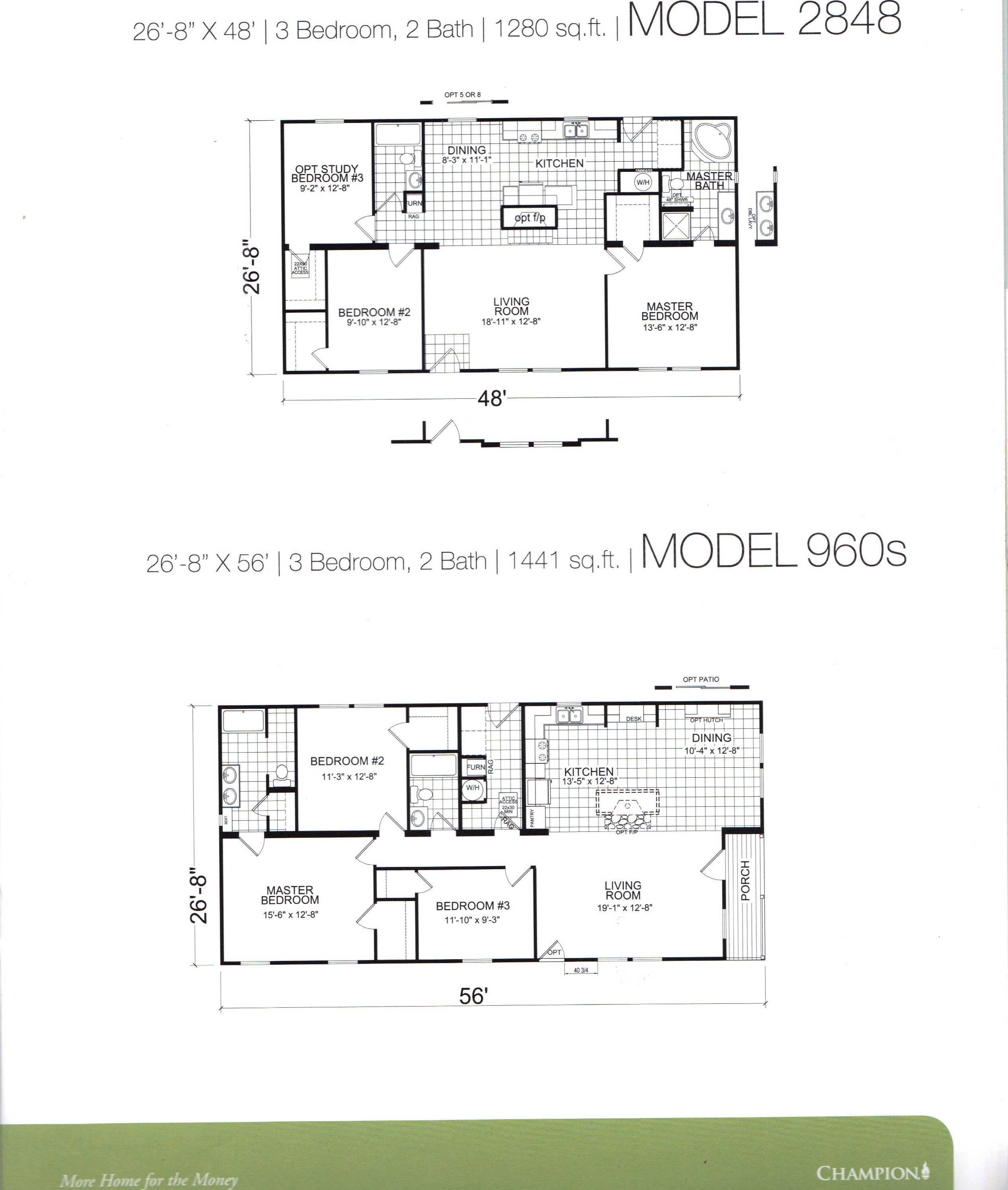 Haleys homes champion floor plans for 1994 fleetwood mobile home floor plans